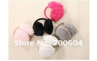 Hot sell !fashion style furry warm earmuffs / winter earmuffs / ear muff / ear protector  10pcs/lot