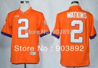 Ncaa Clemson Tigers #2 Sammy Watkins orange college football jerseys mix order free shipping
