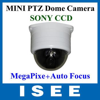 420TVL SONY CCD Mega Pixel Synchronous Auto Focus Mini PTZ CCTV Speed Dome Cameras Free Shipping