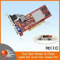 100%  NEW ATI Radeon 7000 64MB 64BIT AV Dual VGA Low Profile PCI Video Card drop shipping free shipping via HKPAM