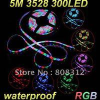 Free Shipping 3528 Waterproof Flexible Strip 1M 60 LED 5M 300 LED  LED Tape RGB