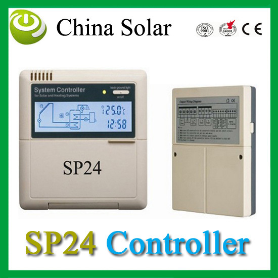 Hot Water experts SP24 controller ,Thermal solar heating System controller 110/220V,LCD Network Fuction+Free Shipping(China (Mainland))