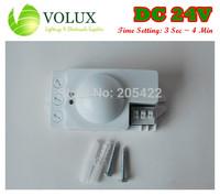 FREE SHIPPING DC 24V Microwave motion sensor Switch Radar sensor detector Time Frame 3 second to 4 min