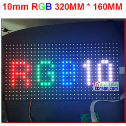 10mm pixel full color module indoor/semi-outdoor hub 75 1/8 scan 320*160mm 32*16 pixel smd 3 in 1 p10 rgb led display module(China (Mainland))