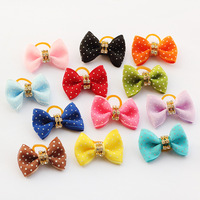 dreambows Handmade Designer Dog Accessories Crystal Core White Point Ribbon Ribbon Bow . Bow Tie Dog, Pet Supplies.