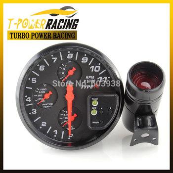 """Universal 5"""" black 4-in-1 tachometer ,water temp gauge,oil temp gauge,oil pressure gauge/Auto meter/Auto gauge/Car meter"""