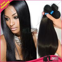 Queen Hair Products Brazilian Virgin Hair weaves 3 or 4 pcs bundles unprocessed virgin brazilian hair straight human hair