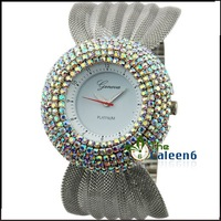 Bling Bling Diamond Face Watch  Women Luxury Fashion Quartz Stainless Steel New Arrival Latest Design CL 0170