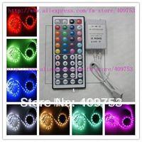 5M RGB SMD 5050 flexible LED Strip Light Lamp 12V 500CM 30 Leds/Meter non-waterproof + 44 key IR Remote control