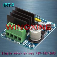 Free shipping,IBT-3 50A H-bridge High-power Motor Driver module/smart car/