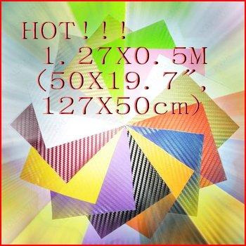 """1PC 1.27X0.5Meter (50X19"""", 127X50cm) 3D carbon fiber vinyl car wrap car sticker-13 color option"""