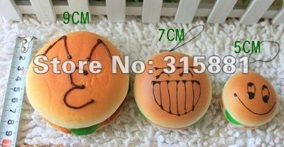 Cute face bread squishy charm/mobile phone Strap/Mobile Phone Charm (Random mixed! )
