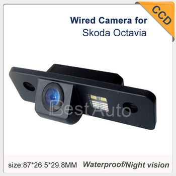 "Backup Camera Wired/wireless CCD 1/3"" car parking camera for VW Skoda Octavia Effective Pixels:728*582 night vision waterproof"