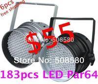 LED Par Can Bar Light 183pcs x 10mm RGB LED PAR64 LED PAR light DMX Lamp Stage Disco Lighting Show