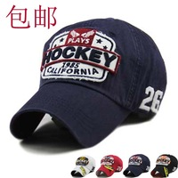 Mix Order retail-B017 HOCKEY high quality Cotton Korea Style fashion women and men Sports hat/Baseball cap free shipping