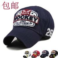 Mix Order retail-B017 HOCKEY high quality Cotton Korea Style fashion women and men Sports hat/Baseball cap free shipping