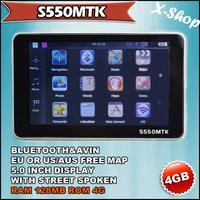 X-SHOP S550MTK HD  GPS Navi,128MB RAM,BLUETOOTH,AV-IN,4GB 2012 MAP Russia/Belarus/Ukraine/Brazil map