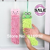 P1 Polyester chenille microfiber lovely animal cleaning towel, cartoon towels, 8 designs for choosing