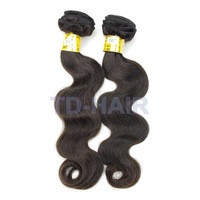 2pcs lot Body Wave Remy Brazilian Virgin Hair Weaves Human Hair Extension Natural Black 1b# TD HAIR Products