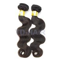 2pcs lot Body Wave Remy Brazilian Virgin Hair Weaves Human Hair Extension Natural Black 1b# TD HAIR Products