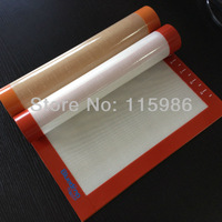 "11.8*X15.7"" Non stick silicone baking liner  Doughing baking mat  Sugar art  sheet  Pastry mat Fondant mat with measures mat"