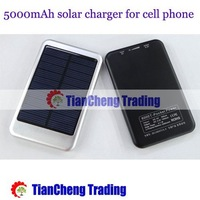 Bottom price! 5000mah Solar Charger Solar Panel Battery Charger USB for iPhone/iPad Digital camera/PDA/PSP/GPS+free shipping!