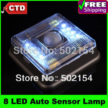 With Post With Factory Cheap Cost Price 8 LED Night Light Lamp PIR Auto Sensor Motion Detector