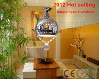 Modern Single-head chandeliers crystal pendant surface mounted ceiling lamp e27 base pendant lamps