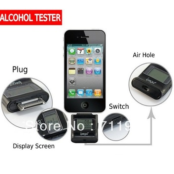 New Arrival Alcohol Tester with LCD Digital Display Unique Dectector For iPhone iPad iPod Free Shipping Dropshipping