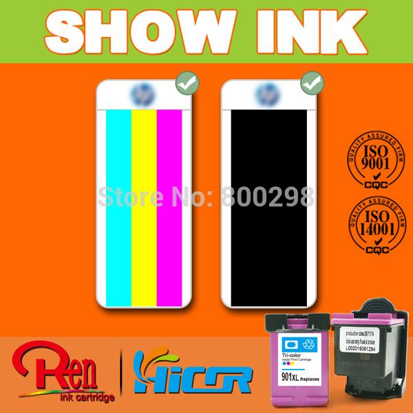 Reset chip cartridge for hp 901xl CC654AN Refillable ink cartridges for HP901xl Deskjet printer(China (Mainland))