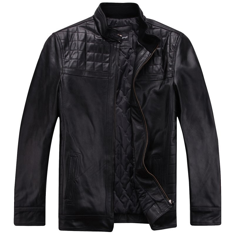 Freeshipping! Humitre New Fashion men's genuine leather jacket Cow leather men clothes EX-1298