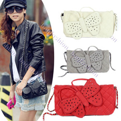 Designer Butterfly bow-knot Clutch Purse wristlet evening bag Chain Bags wallet Handbag Shoulder 5138(China (Mainland))