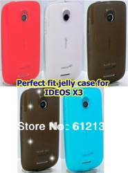 Free shipping SOFIZ jelly tpu soft case for Huawei IDEOS X3 U8510(China (Mainland))