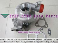 NEW TD04 TD04-11G-04 49177-02513 49177-02512 28200-42540 Turbo Turbocharger For Mitsubishi L200/PAJERO/Galloper 2.5L 4D56Q 4D56