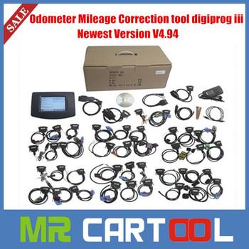 2014 Top-Rated promotion digiprog3  V4.88 Odometer Programmer Mileage Correction Tool DigiProg III, DigiProg 3 with All Adaptors