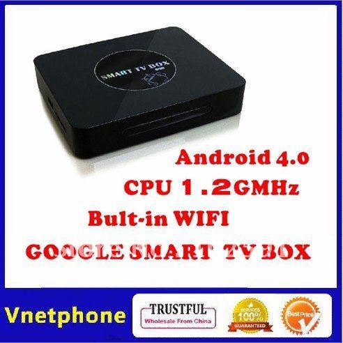 201207 Hot sales Android 4.0 TV Box CPU 1.4G ARM Cortex A9 WiFi HD 1080P HDMI Internet Google TV Box DDR III 1GB+ 4GB+Flash+3D(China (Mainland))