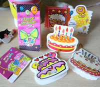 31pcs/lot Creative Mini Cartoon Birthday Greeting Card For Kids Christmas Cute Design Message Card(AKL-001)