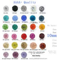 Free Shipping,Can mix colors,Shamballa Beads 10mm,100% AAAA Qulity Shamballa Bracelet Crytal Beads,10mm Disco Ball Crystal Beads