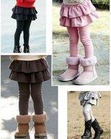 wholesale girls clothes lots spring and summer skinny girls pant skirts princess tutu colorful girls legging skirt pants 3colors