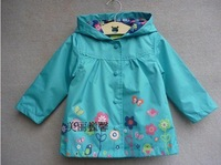 free shipping,2014 new item,Foreign original,Children's clothing waterproof trench, baby with a hood outerwear (topolino)