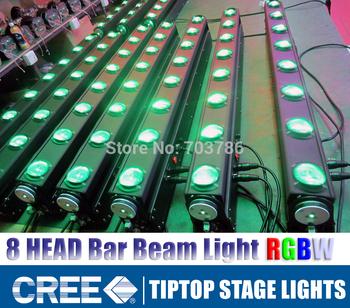 Hi-Quality 4pcs/lot American DJ Led Bar Rotating Stage Light 8pcs*8W 4IN1 Cree LED RGBW Color LED Beam Bar DMX 512 Light 9/38Ch