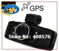 "Black GS5000 1.5"" LCD Full HD 1080P Car DVR Recorder with GPS G-Sensor and IR Night Vision"