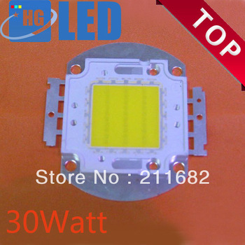 8pcs/lot Free Shipping 30W 2100-2700LM High Power LED chip LED Bulb IC SMD Lamp Light White Blue Green White Yellow .Warm White