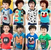 Special offer 2014 children's t-shirt cartoon clothing short sleeve sport t-shirts 5\pcs,100% Cotton,5size children's clothing