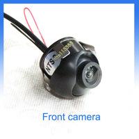 Front camera Free shipping CCD quality 360 degree rotation car camera with normal image for forward view or side forward view