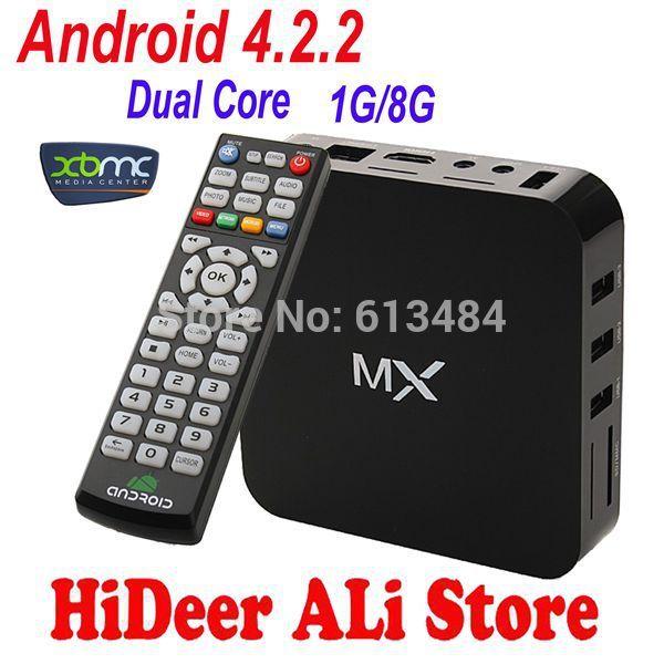 XBMC preinstalled Android 4.2.2 TV set top box Google Amlogic 8726-MX Cortex A9 Dual core 1.5GHz 1GB/ 8GB M6 EM6 Media Player(China (Mainland))