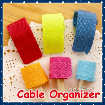 [FORREST SHOP] Office School Supplies Fabric Computer Cable Wire Cord Organizer / Power Cable Management (6 Set/Lot) FRC-2