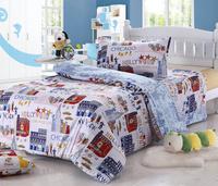 New 2014 children bed bedding sets( duvet cover/ Bedding sheet /bedspread/pillowcase ),Round corner sheep type kids bedding set