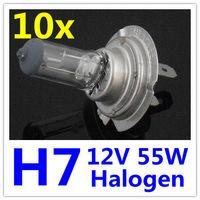 10 x H7 Halogen Xenon Car Light Bulb Lamp Car Light Bulbs 12V 55W Factory Price Free Shipping 10pcs 5pairs