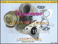GT2056V 751243-5002S 751243 14411-EB300 Turbo Turbocharger For Nissan Navara D40/Pathfinder QW25 2005- 2.5L DI YD25DDTi 174HP